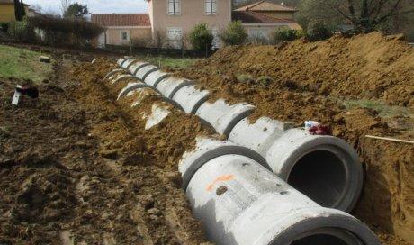Canalisation pour rétention d'eaux pluviales Lyon
